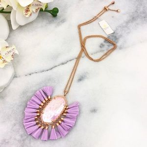 Kendra Scott Betsy Rose Gold Long Pendant Necklace